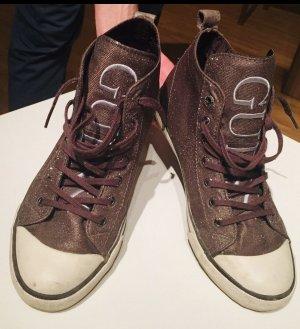 Guess Sneaker stringata bronzo