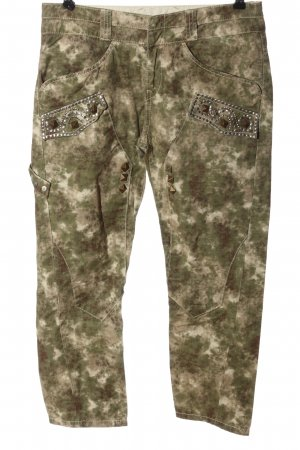 Guess 7/8 Length Trousers camouflage pattern casual look