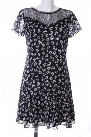 Guess A Line Dress black-light grey abstract pattern elegant