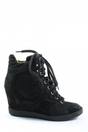 Guess Absatz Sneaker schwarz Allover-Druck Casual-Look