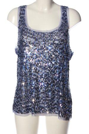 Guess ärmellose Bluse weiß-blau Casual-Look