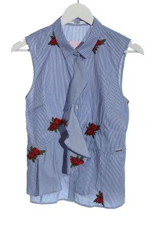 Guess ärmellose Bluse blau Blumenmuster Business-Look