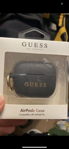 Guess Key Chain black-gold-colored