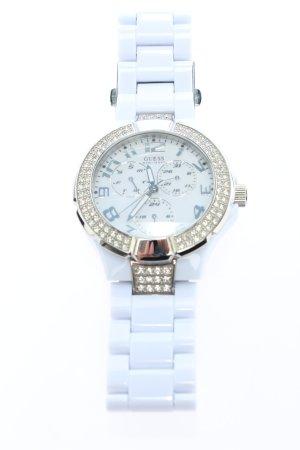 Guess Zegarek analogowy biały W stylu casual
