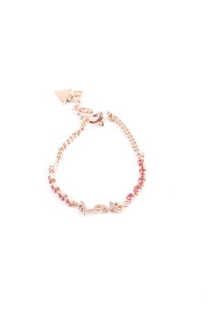 Guess Armband goldfarben-pink Glitzer-Optik
