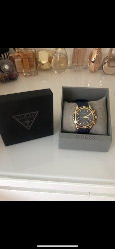 Guess Zegarek analogowy ciemnoniebieski