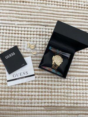 Guess Horloge met metalen riempje goud