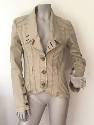 Guess Denim Blazer beige-sand brown cotton