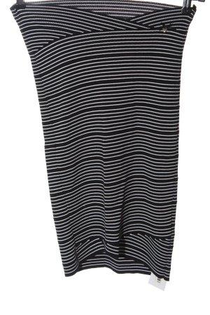 Guess Falda de tubo negro-blanco estampado a rayas look casual