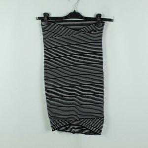 Guess Falda de tubo blanco-negro