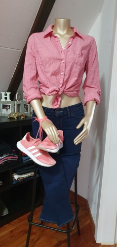 Guess Checked Blouse pink