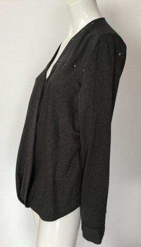 Guess Blusa cruzada gris antracita-gris oscuro Poliéster
