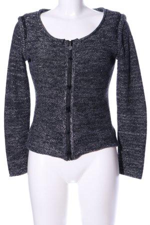 Guess Blusenjacke schwarz-silberfarben meliert Casual-Look