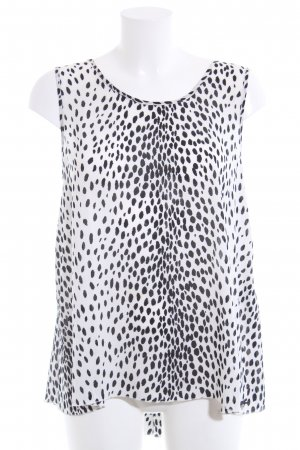 Guess Blouse Top white-black allover print casual look