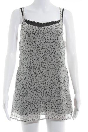 Guess Blusentop weiß-schwarz abstraktes Muster Casual-Look