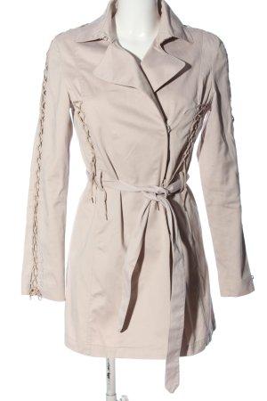 Guess bodenlanger Mantel wollweiß Business-Look