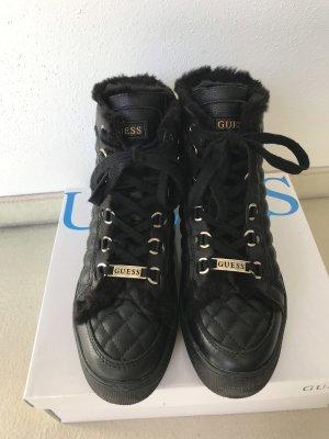 Guess Botas de tobillo negro-color oro
