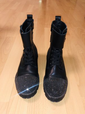Guess Low boot noir-argenté cuir