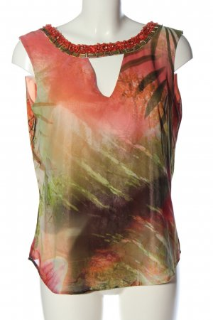 Guess by Marciano Sleeveless Blouse red-green abstract pattern elegant
