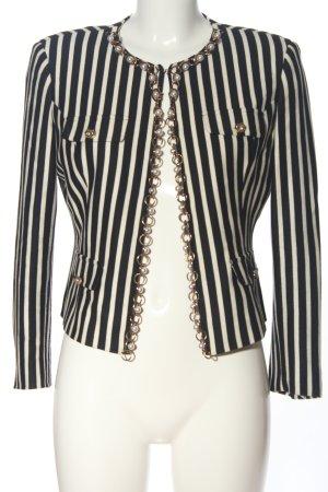 Guess by Marciano Kurz-Blazer schwarz-weiß Streifenmuster Casual-Look