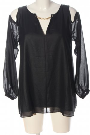 Guess by Marciano Langarm-Bluse schwarz Casual-Look