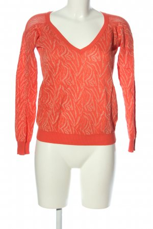 Guess by Marciano Longsleeve hellorange-wollweiß abstraktes Muster Casual-Look