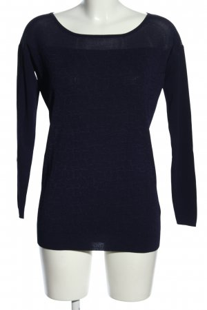 Guess by Marciano Strickpullover dunkelblau grafisches Muster Casual-Look