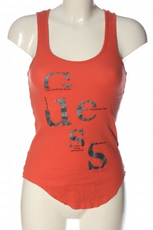 Guess Canottiera Stampa a tema stile casual