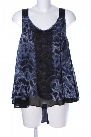 Guess Camisole schwarz-blau Animalmuster Casual-Look