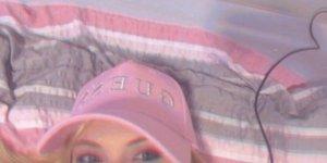 Guess Gorra de béisbol rosa-rosa