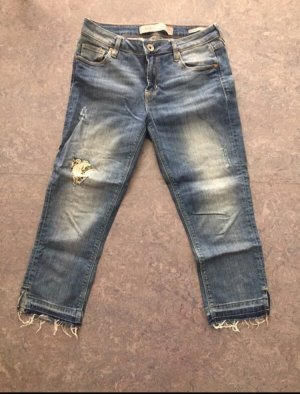 Guess 3/4-jeans korenblauw-wit