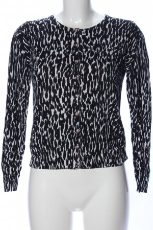 Guess Cardigan schwarz-weiß Animalmuster Casual-Look