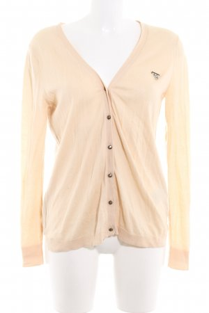 Guess Cardigan nude-dunkelgrün florales Muster Casual-Look