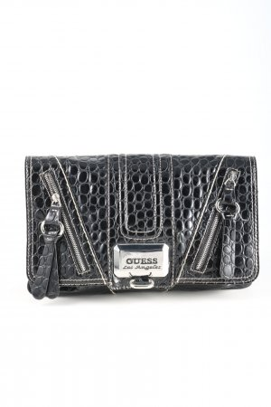 Guess Clutch schwarz Allover-Druck Casual-Look