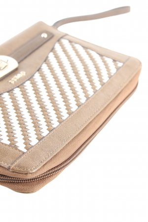 Guess Clutch braun-weiß Karomuster Casual-Look