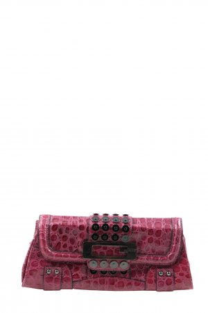 Guess Clutch pink Animalmuster Glanz-Optik