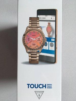 Guess Reloj digital color rosa dorado acero inoxidable