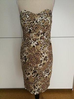 Guess Vestido corsage marrón-amarillo claro