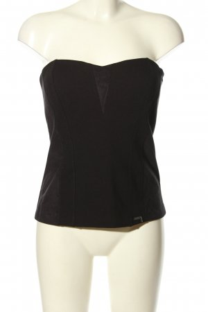 Guess Corsage topje zwart casual uitstraling