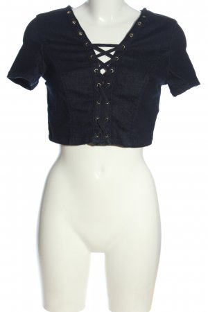 Guess Cropped Top blau Casual-Look