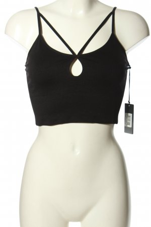 Guess Cropped Top schwarz Casual-Look