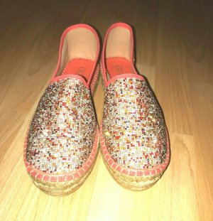 Guess Damen Glitter Steine Fabric Espadrilles Orange