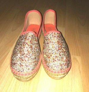Guess Zapatos de marinero naranja neón Algodón