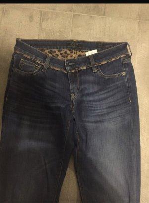 Guess Jeans taille basse bleu foncé
