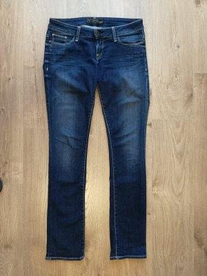 Guess Damen Jeans Slim Fit Dunkelblau mit Swarovski Steinen Gr. 28
