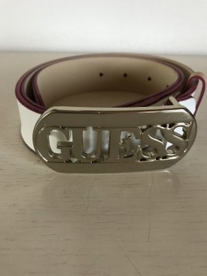 Guess Leather Belt white-pink