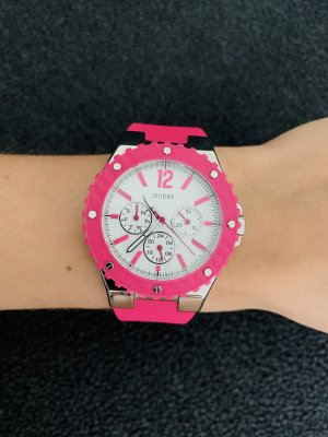 Guess Self-Winding Watch neon pink