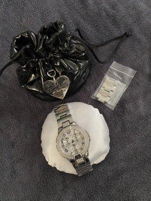 Guess Zegarek analogowy srebrny-biały