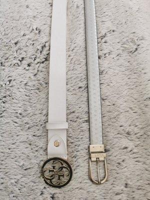 Guess Cinturón de cuero de imitación color plata