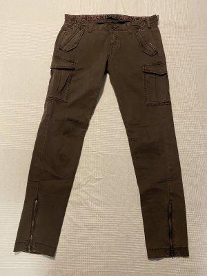 Guess Workowate jeansy brązowy